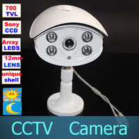 CCD Indoor Array leds Surveillance Security Sony CCD Effio-E HD 700TVL OSD Menu 12mm lens 4pcs Array IR LEDs Day Night Vision Outdoor Bullet Camera