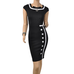 Wholesale Fashion Women Vintage Dress Cocktail dress for Office Work ladies Clothing