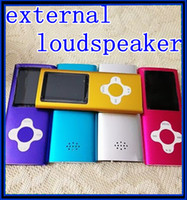 Wholesale Newest GB th quot inch plum cross button mp4 music player with External loud speaker without any accessories DHL