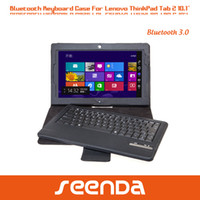 Wholesale For Lenovo ThinkPad tablet Wireless Bluetooth removable keyboard case inch