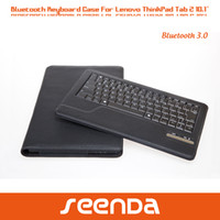 Wholesale For Lenovo ThinkPad tablet tablet pc PU leather case cases with detachable Bluetooth keyboard ABS sleek
