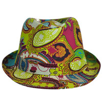 Wholesale 2013 fashion women trilby Retro Paisley Floral Fedoras Summer Women s Korean Spring Sun Hat