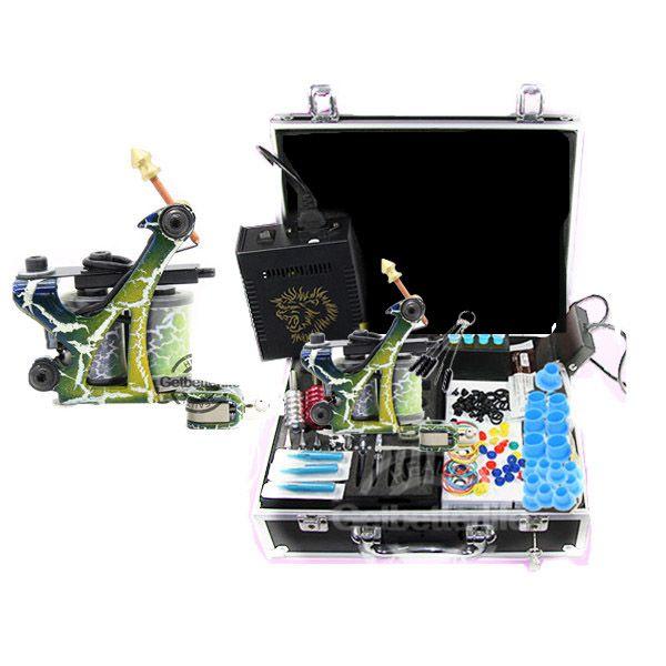 Starter tattoo kit kits 1 machine gun power supplies for Starter tattoo kits