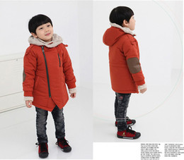 Wholesale New Arrival Boy diagonal zipper jacket and long sections coat JC255