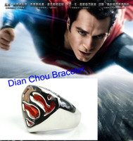 Wholesale Freeshipping pc a Bahamut Superman Ring of Superman Returns Cospaly Costume Jewelry Free With Chain PK111