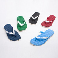 Wholesale Men color block the wave massage flip flops shoes beach slipper nice looking for summer a x115