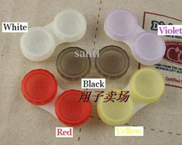 Wholesale 10 Colors Dual Box Double Case Lens Soaking Case Contact Lens Case