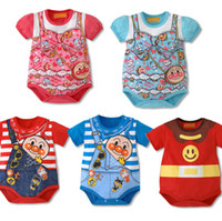 6-9 Months Unisex Summer anpanman babywear baby rompers bodysuits toddler one-piece romper shortalls jumpsuits overalls tops baby clothes jumpers costumes Y469