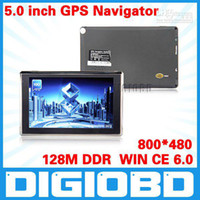 Wholesale 5 inch GPS Navigation MHz M DDR Bluetooth AV IN G Memory WIN CE Free D map APICA