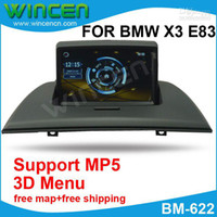 "BMW English DVD-RAM GPS 7"" Car DVD Player for BMW X3 E83 with MP5 Function 3D Menu PIP Free Shipping+Free Card with Map+Free"