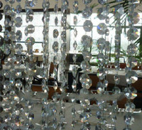 Wholesale 14MM iridescent crystal beaded curtain for decoration sold by meters