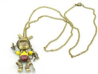 Wholesale new bronze movable Pinocchio Marionette necklace