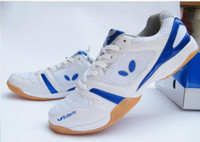 Wholesale Latest butterfly table tennis shoes WIN men and women sports shoes white blue
