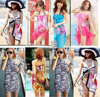 Wholesale Sexy Pareo Dress Sarong Bikini Cover Up Scarf Wrap Swim swimwear Beach Beautiful Charming Sarong Swi