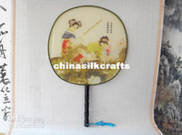 chinese fans - Ladies Chinese Fan Silk Palace Fan Ethnic Hand Fan Crafts Gift Fan Cheap Painted Fan mix Free