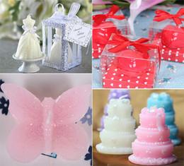 Style de mariage Bougie Coeur Gâteau Forme Papillon Chaussures à talons hauts Bougies Favors Décoration Fournitures de mariage