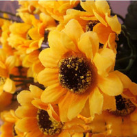 Wholesale sunflower bouquet party decoration artificial flower simulation flower home decoration silk flower