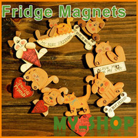 Wholesale Hand painted puppet refrigerator wooden fridge magnets comments posted