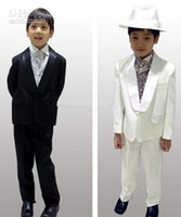 Wholesale New Fashion Kid Complete Designer Boy Wedding Suit Boys Attire Custom made Boy s Formal Wear Jacket Pants Tie Vest C823Q