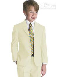Wholesale Kid Clothing New Style Complete Designer Boy Wedding Suit Boys Attire Jacket Pants Tie Vest C812W