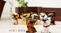 Wholesale 2 sets Hot sell romantic gifts little dogs Complete set of toy dogs a