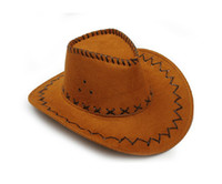 Wholesale 50pcs top quality fashion cowboy hat hip hop cap Wide Brim Hat for men and women different colors mixed order
