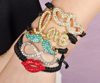 Wholesale STACKING BRACELET Artilady fashion love heart crystal bracelets friendship bracelet