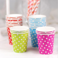 Wholesale Paper Cups oz Polka Dot cups Birthday Party Cups Drinking Cups Party Supplies