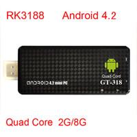 Wholesale 2013 New TV BOX MK809 III Rockchip RK3188 Quad Core Cortex A9 MK809III MINI Androind PC TV Stick GB GB ROM GHz