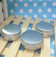 Wholesale empty aluminium aluminum pot jar tin lip balm cosmetic container g silver cream nail