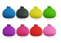 Wholesale Silicone Coin Purse Lovely Coin Bag Silicone Money Bag Puse Japanese Style Coin Wallet edison2011