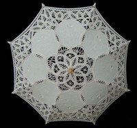 Wholesale WHITE ivory CHILD SIZE BATTENBURG LACE PARASOL SUN UMBRELLA BRIDES FLOWER GIRL NEW
