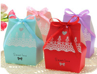 Favor Boxes Pink Paper Beautiful candy box wedding supplies creative joyful box Favor Holders