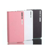 Wholesale Wallet Style mAh Power Bank Battery Charger with LCD Display for iPhone S HTC Samsung S3 S4