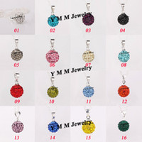 Wholesale Mix Option Colors mm Clay Pave Disco Ball Rhinestone Crystal Shamballa Pendants