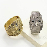 Women's real silver jewelry - Real Top Fashion Women s Party Alloy Gold silver Halloween Chirstmas Easter Owl Bracelets Charm Bracelet Fashion Jewelry Wedding Bangle