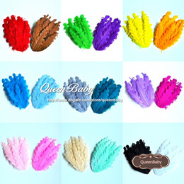 Colorful Bohemian Feather for Hair Accessories for Headband Clip Feather Print Photography Props 20pcs lot QueenBaby