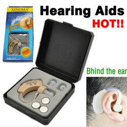 Wholesale Digital Hearing Aid behind the ear XM Adjustable Sound Amplifier Deaf Aids volume levels