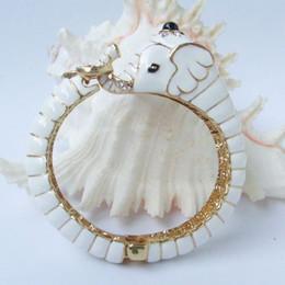 Wholesale Crystal Elephant Cuff Bracelet - Lovely White Elephant Bracelet Bangle Cuff w Clear Rhinestone Crystals CL50901