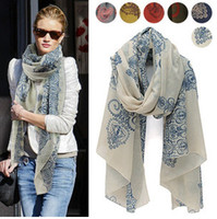 Spring & Fall Floral Daily New Style Women Scarf Fashion Lady Scarf Totem Retro Cotton And Linen Scarves Long Scarf 5 pcs