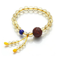 Natural crystal / semi-precious stones Citrine Lapis across lobular Brazil ranks bliss jewelry natural citrine bracelet with lapis lazuli A grade lobular red sandalwood bracelets genuine