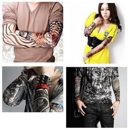 Wholesale PUNK fake tattoo sleeve Art tattoo sleeves Riding tattoo cuff models available