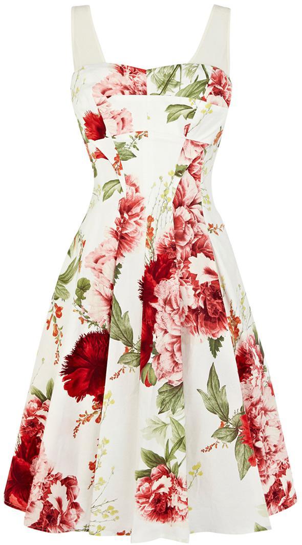 Elegant Full Floral Print Cotton Prom Dress Dq223 Women Dress ...