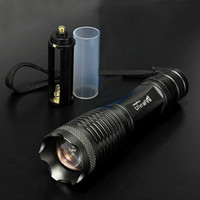 Wholesale ultrafire CREE XML T6 LM Led Flashlight Torch Light Modes Zoomable Led torch AAA battery Camping Hiking Flashlight