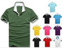 Men Polo Short Sleeve Free shipping Retail 2013 new designer t shirts for men casual Striped collar brand t shirt smith men's shirts print fashion t-shirt