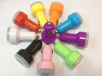 Wholesale 1000pcs mah Colorful Dual Port USB Car Charger Adapter for ipad iPhone PDA MP3 MP4 Phone color