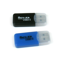 Wholesale USB Reader Brand NEW High Speed USB Micro SD T Flash TF M2 Memory Card Reader adapter gb TF Card D202