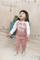 Boy 0-3 Months Spring / Autumn Retail New arrival kids cool hooded coat+trousers 2pcs set baby sport chothes sets children clothing