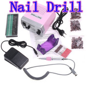 Wholesale Electric Nail Drill with Nail Bits Foot Pedal File Machine Manicure Pedicure Kit Set V V