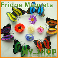 Wholesale New cm double butterfly fridge magnet fridge magnet three dimensional fridge magnet91